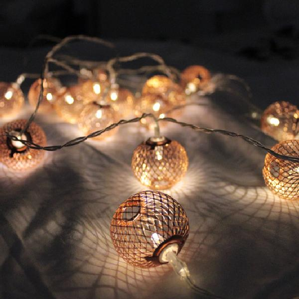 Copper Lanterns - Electric String Light Delight Decor House Of Little Dreams