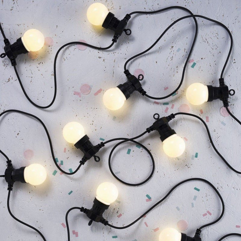 Festoon Lights Frosted String Light Delight Decor House Of Little Dreams