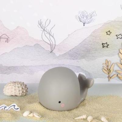 Whale Light Small Grey Fun Light Ups Teeny & Tiny House Of Little Dreams