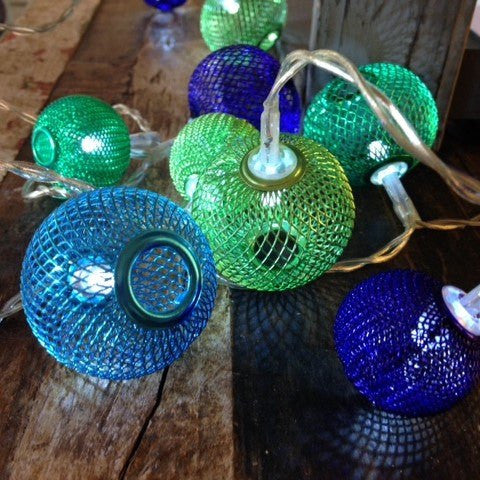 Turquoise Lanterns - Electric String Light Delight Decor House Of Little Dreams