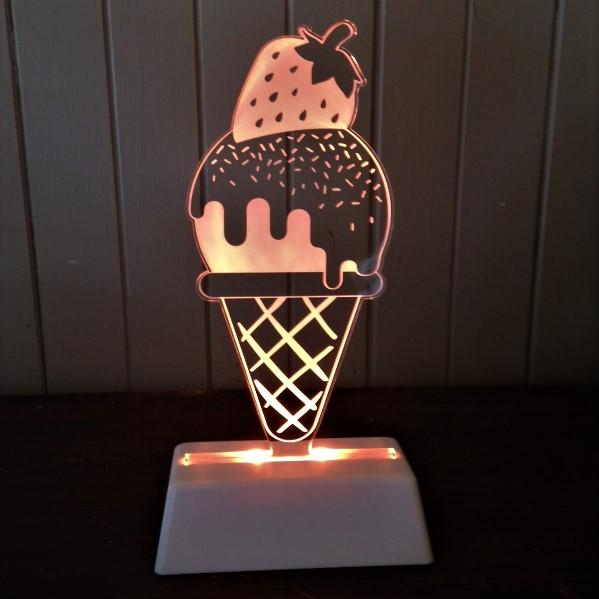 Night Light Ice Cream Lamp Delight Decor House Of Little Dreams