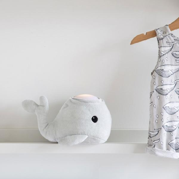 Hugglo Whale Grey Plush light Hugglo House Of Little Dreams
