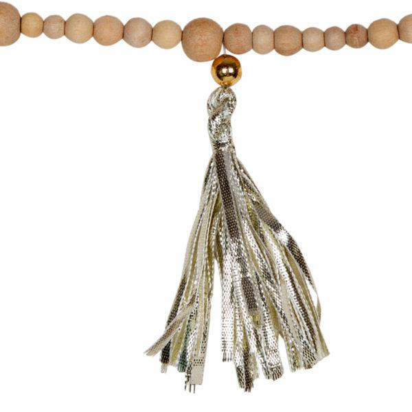 Gold Tassel and bead garland