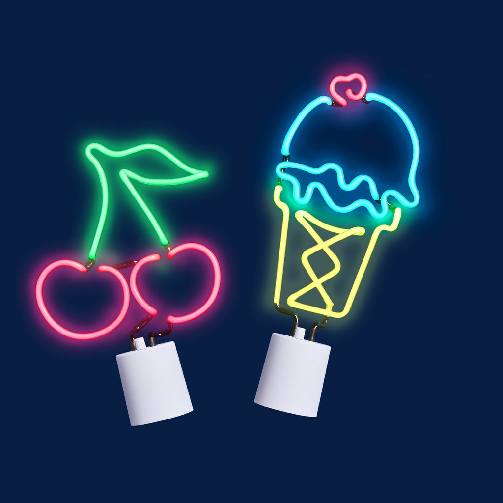 Small Neon Icecream Light Sunnylife Lamp Sunnylife House Of Little Dreams