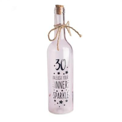 30th Birthday Wishlight Bottle Home Decor Wishlights House Of Little Dreams