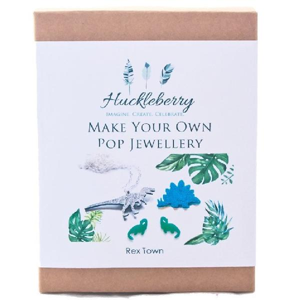 Make Your Own Pop Jewellery Kit - Rex Town Activity Kit Huckleberry House Of Little Dreams
