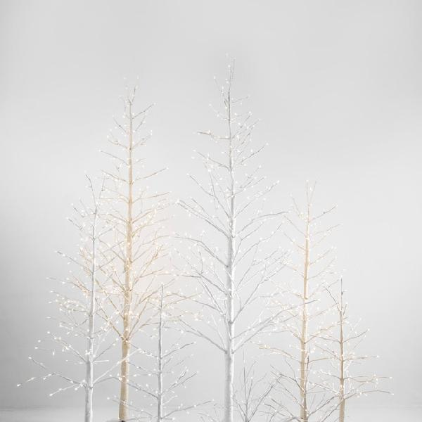 Taupe branch Tree with Snow - Small 60cm 20 LED