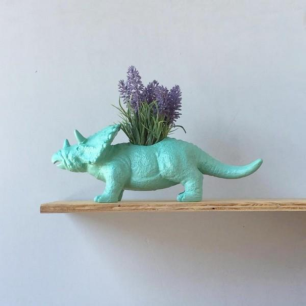 Planter Triceratops Home Decor White Moose Design House Of Little Dreams