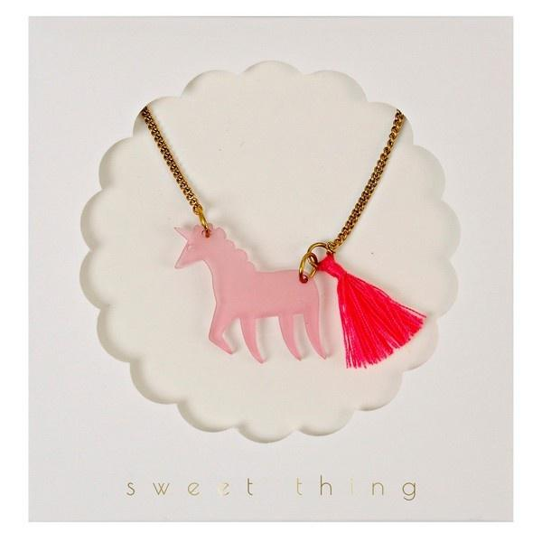 Unicorn Necklace Jewellery Meri Meri House Of Little Dreams