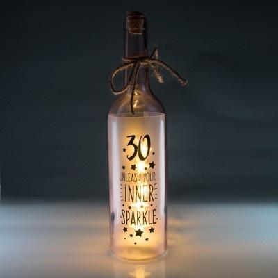 30th Birthday Wishlight Bottle