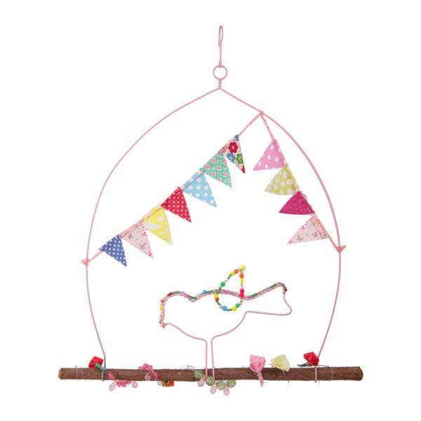 Wall hanging bird with bunting
