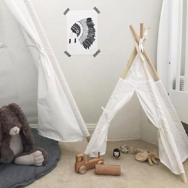 Kids Toy Tee Pee Tee Pee Rainbows and Clover House Of Little Dreams