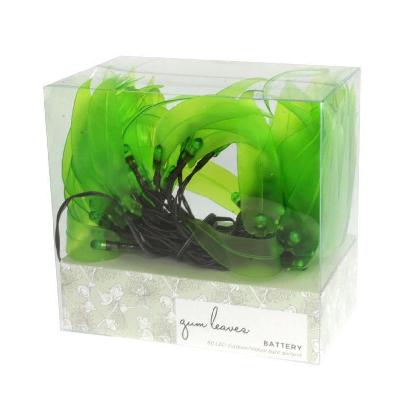 Lime Gum Leaves Battery String Light Delight Decor House Of Little Dreams