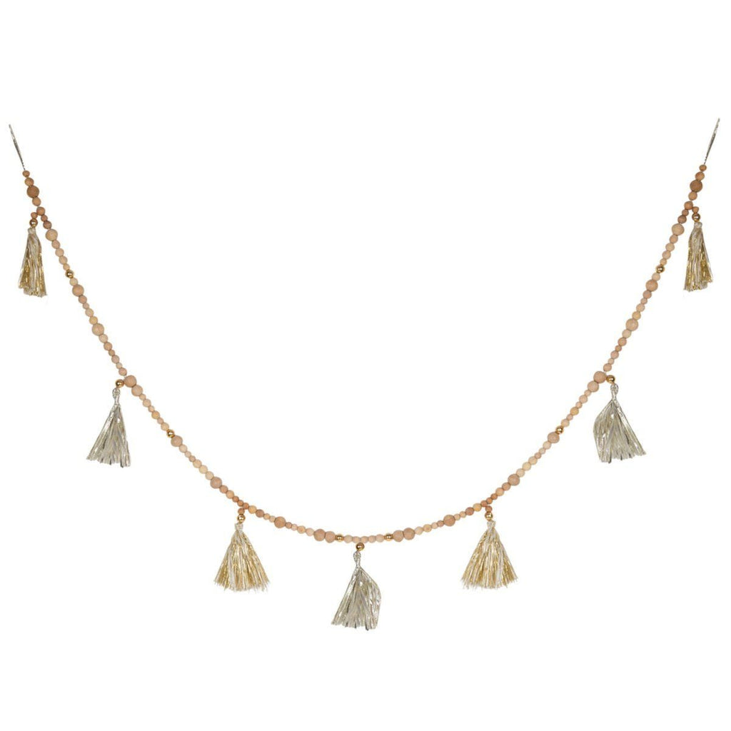 Gold Tassel and bead garland Garland Inspire by The Design Edge House Of Little Dreams