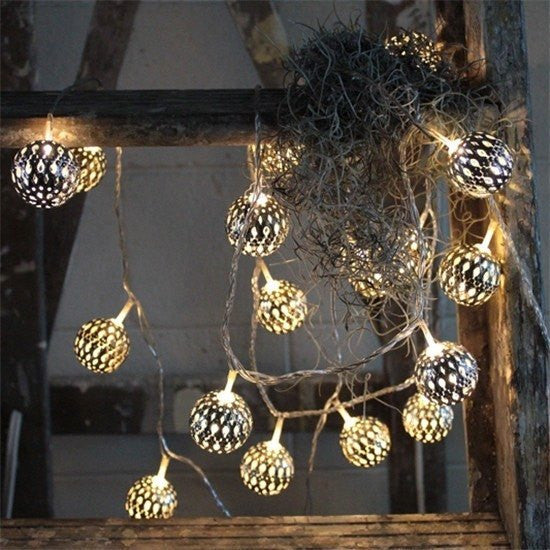 Grand Maroq Silver - Electric String Light Delight Decor House Of Little Dreams