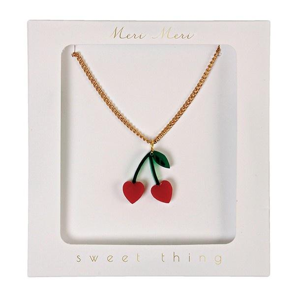 Cherry Charm Necklace Jewellery Meri Meri House Of Little Dreams