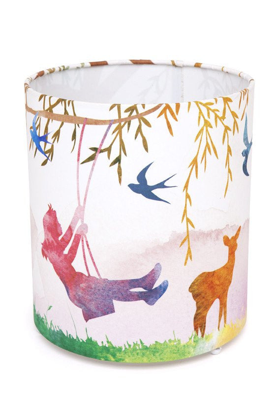 Little Girl on Swing Cylinder Lamp Micky & Stevie House Of Little Dreams