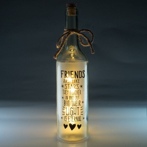 Friends Wishlight Bottle Home Decor Night Light
