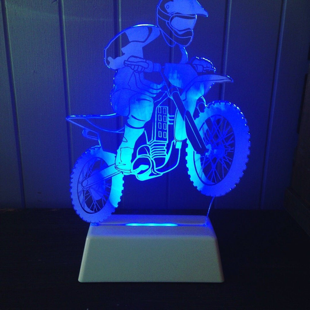 Dirt Bike Night Light Lamp Delight Decor House Of Little Dreams
