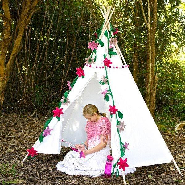 Tee pee Large Tee Pee Rainbows and Clover House Of Little Dreams