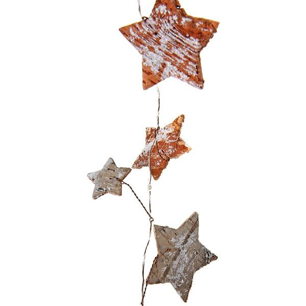 Garland Bark Star 1.9m with 20 LED Christmas Decor Delight Decor House Of Little Dreams