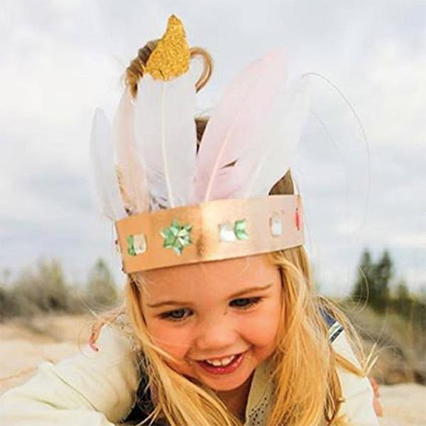 Make Your Own Glam Crown Pink Gliter Activity Kit Huckleberry House Of Little Dreams