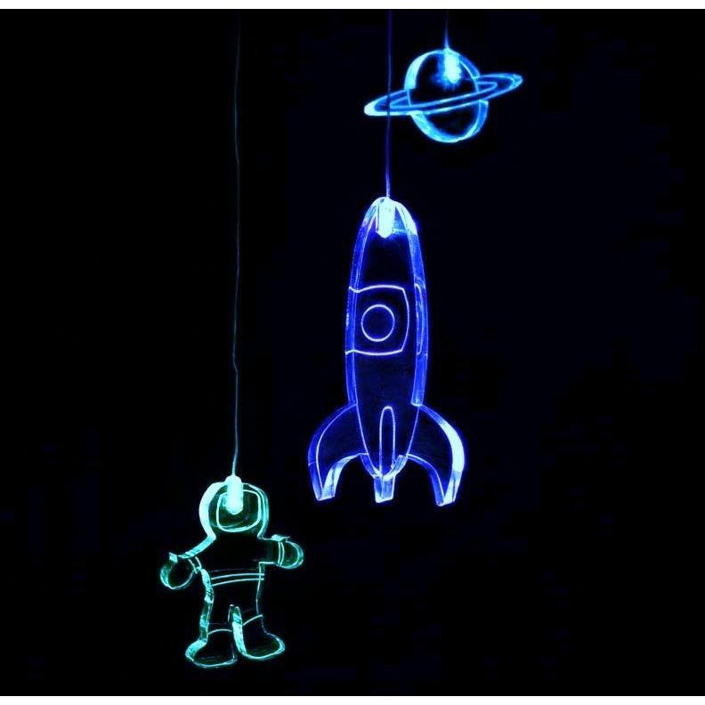 Mobile Spaceman w Timer Mobiles Delight Decor House Of Little Dreams