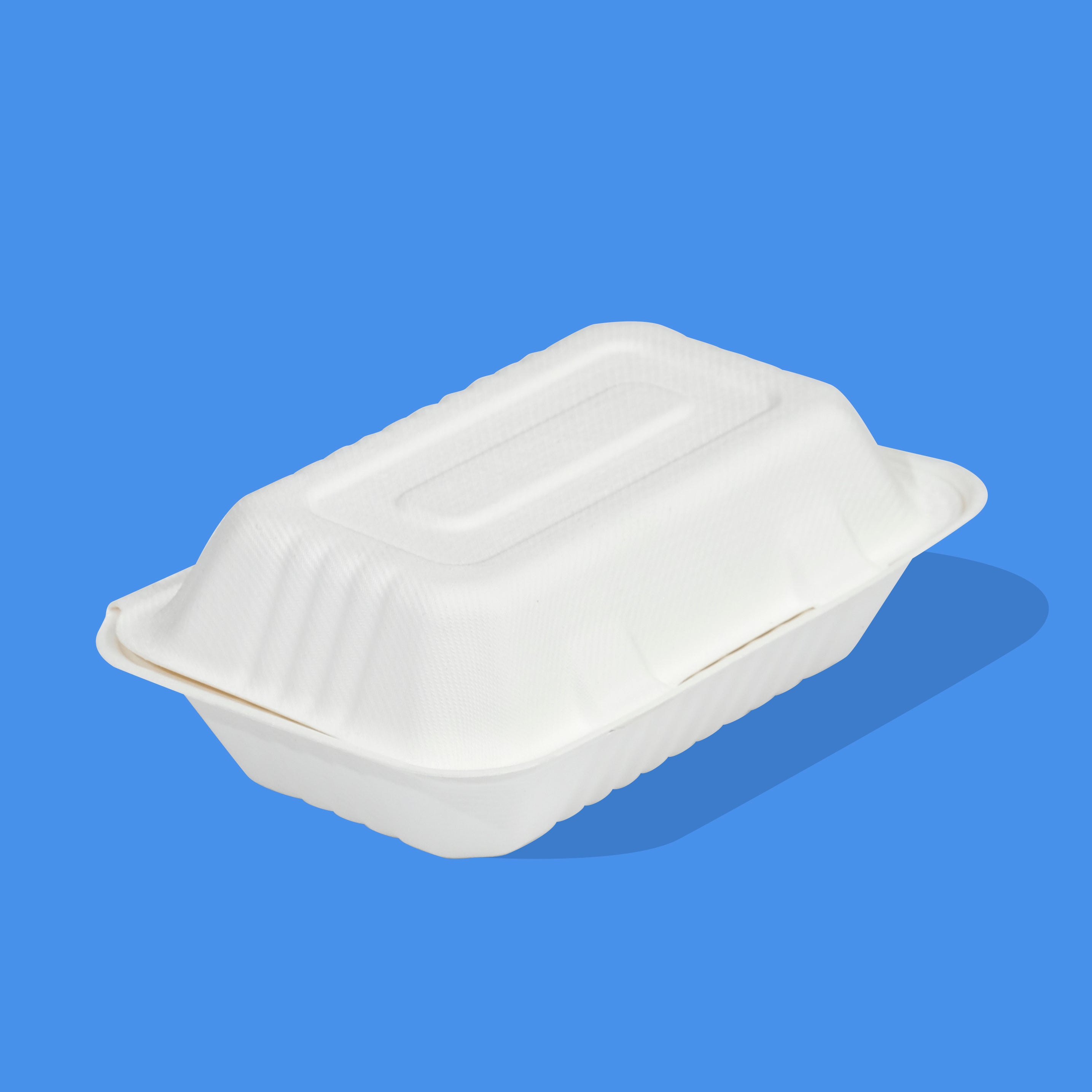 "9"" x 6"" Bagasse Clamshell"