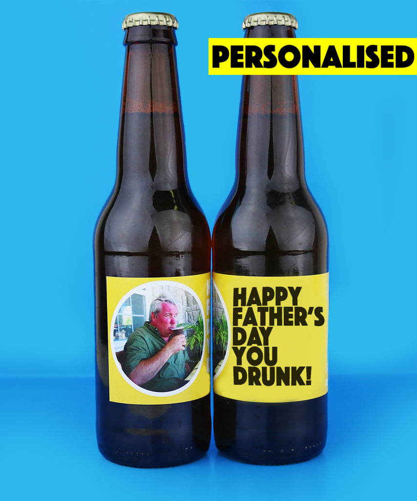 Personalised Fathers Day Gift Pack (2 Personalised Beers, Popcorn, Personalised Wrapping Paper)