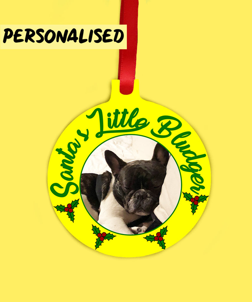 Santa's Little Bludger (Personalised Ornament)