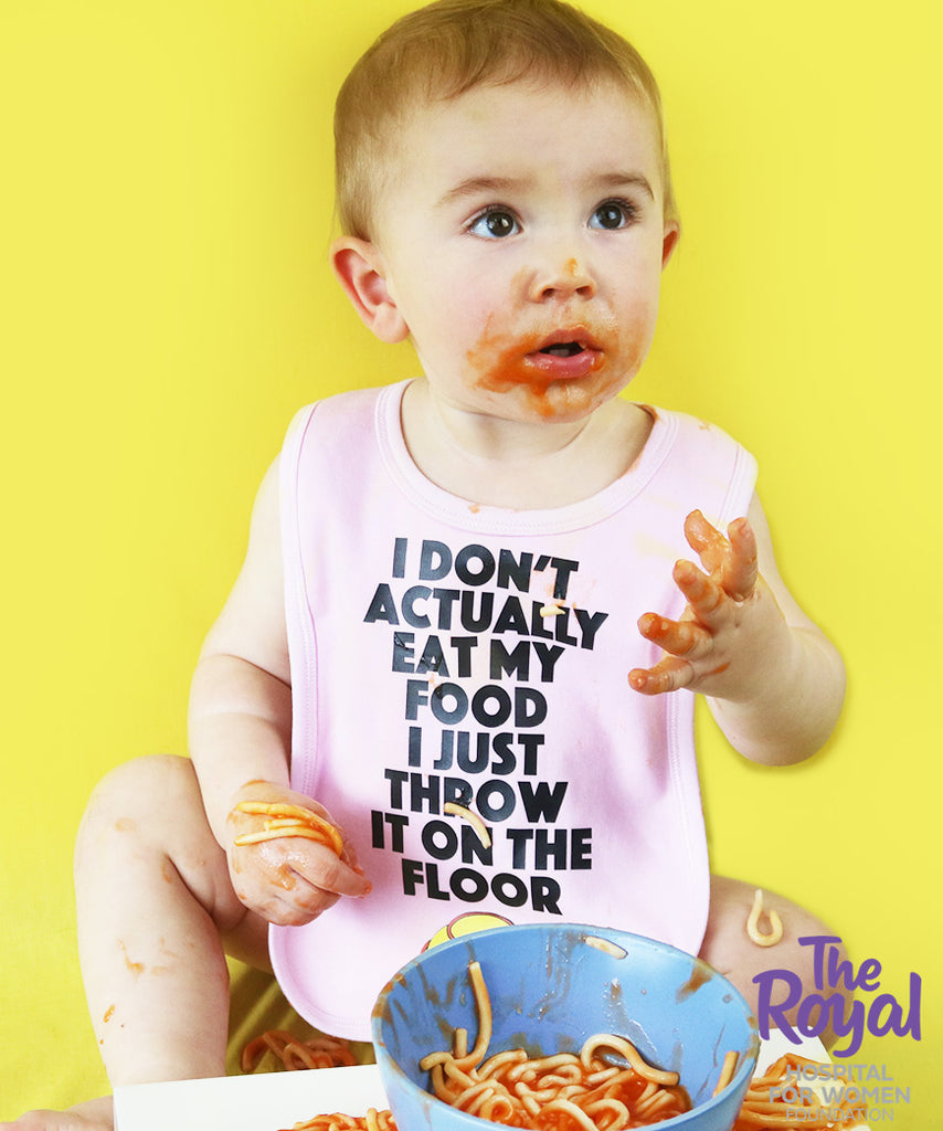 I Don't Actually Eat My Food, I Just Throw It On The Floor (Bib)