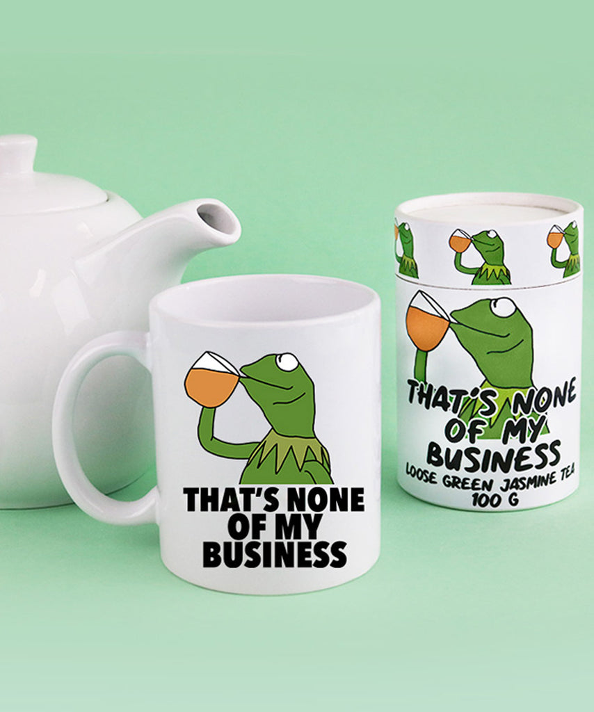 That's None Of My Business - Green Tea & Mug Set