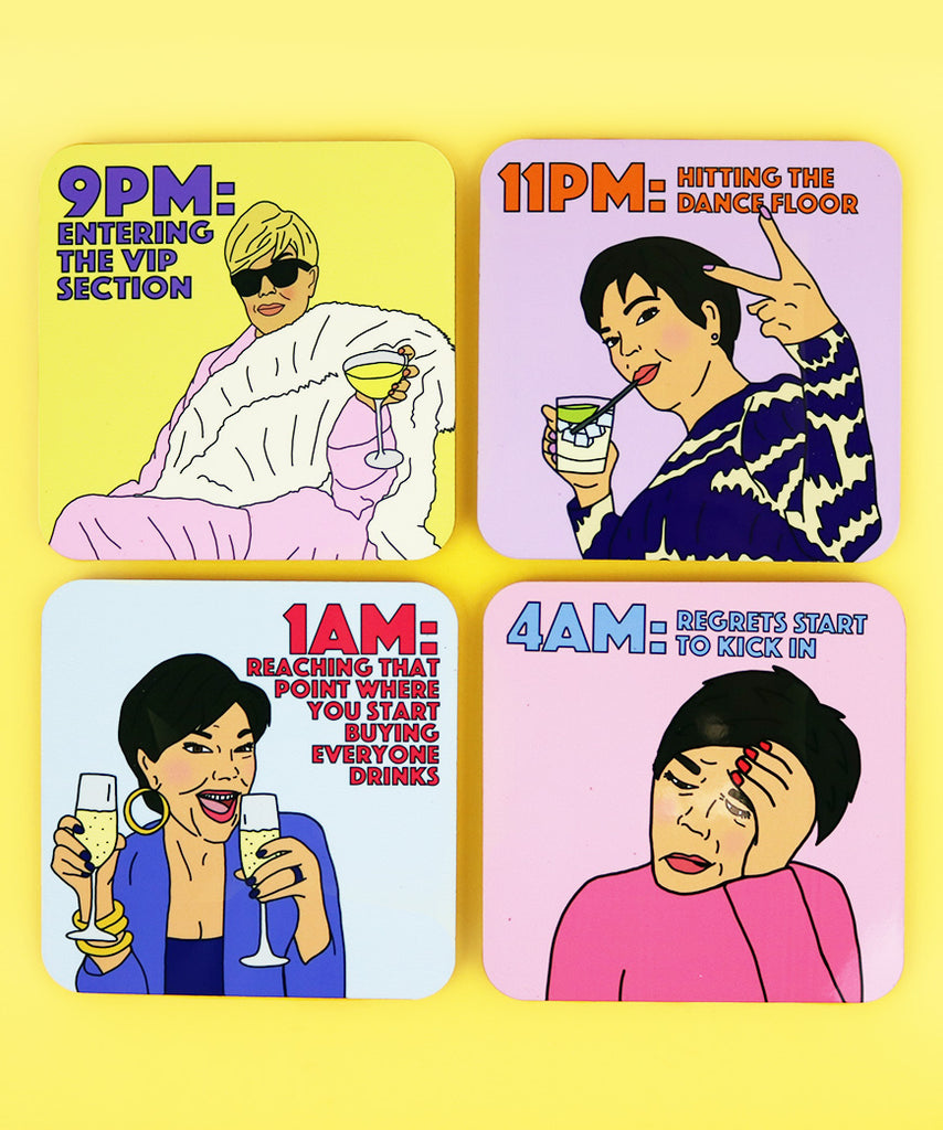 Night Out As Told By Kris Jenner (Coaster Set)