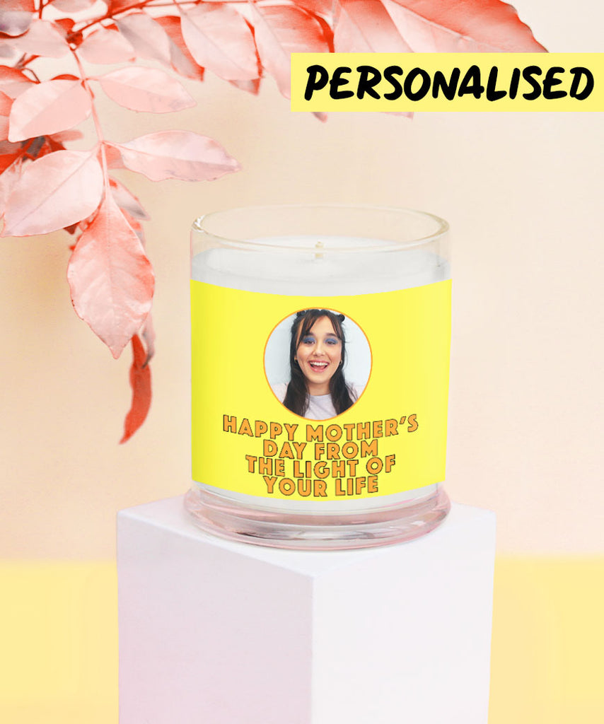 Happy Mother's Day From The Light Of Your Life (Personalised Glass Candle)