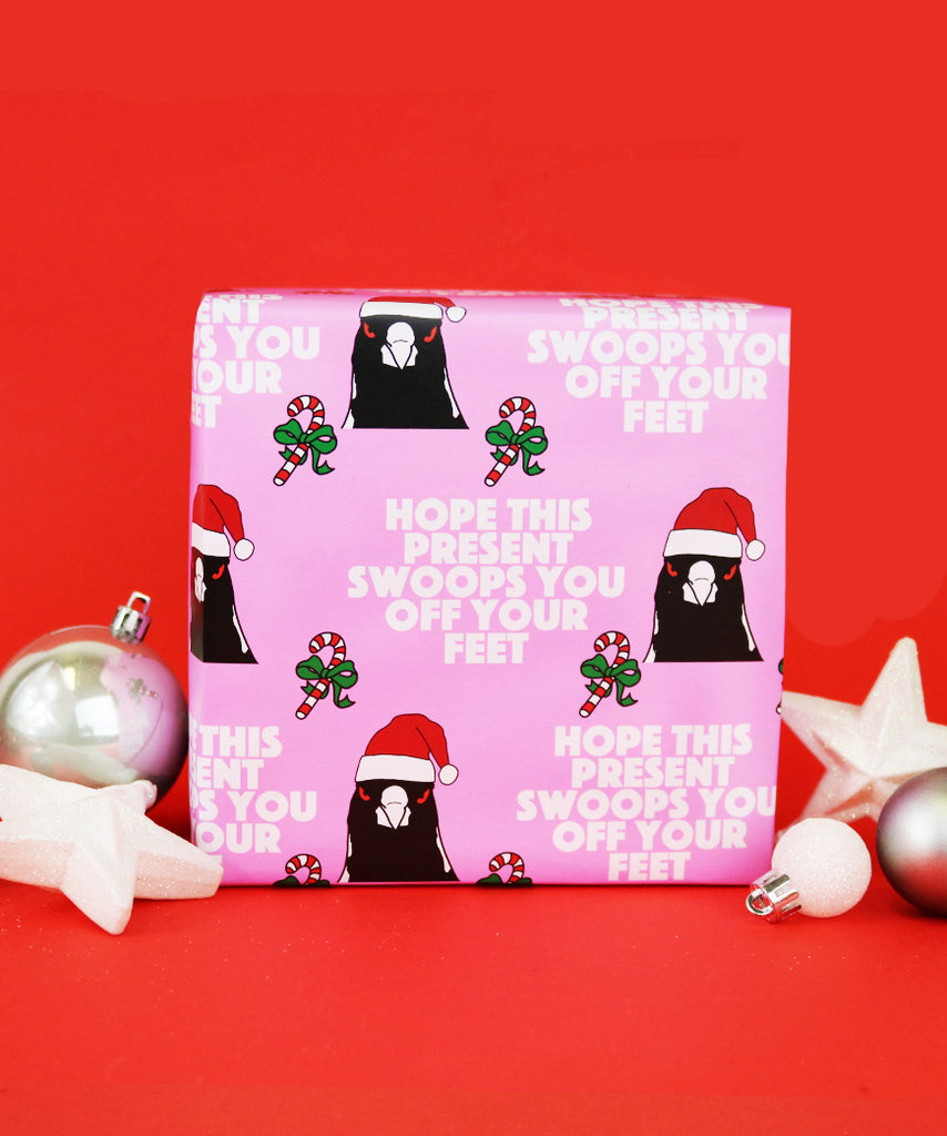 Hope This Present Swoops You Off Your Feet - Christmas Version (Wrapping Paper)