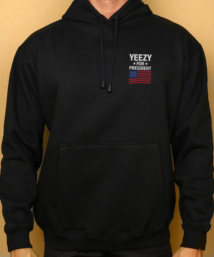 c460a5d2 Yeezy For President Hoodie Mens Kanye West Yeezus | Grey Lines