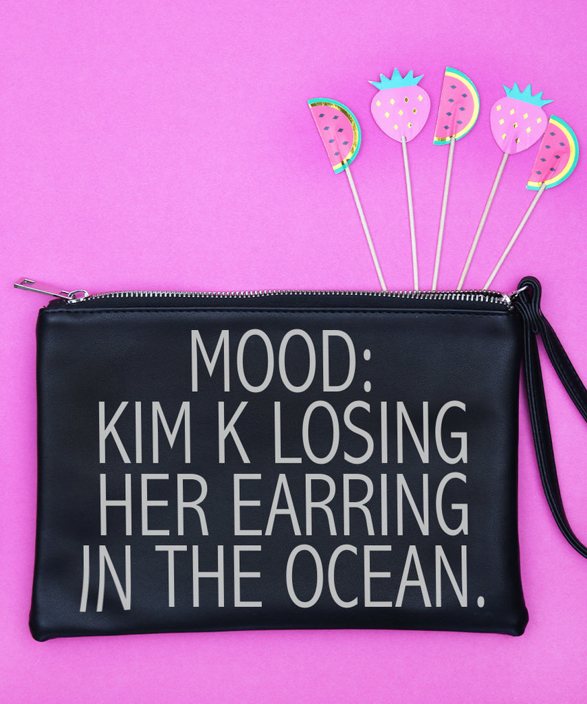 Mood: Kim K Losing Her Earring In The Ocean