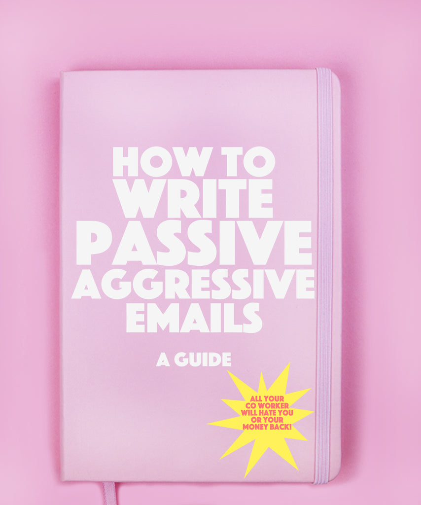 How To Write Passive Aggressive Emails (Notebook)