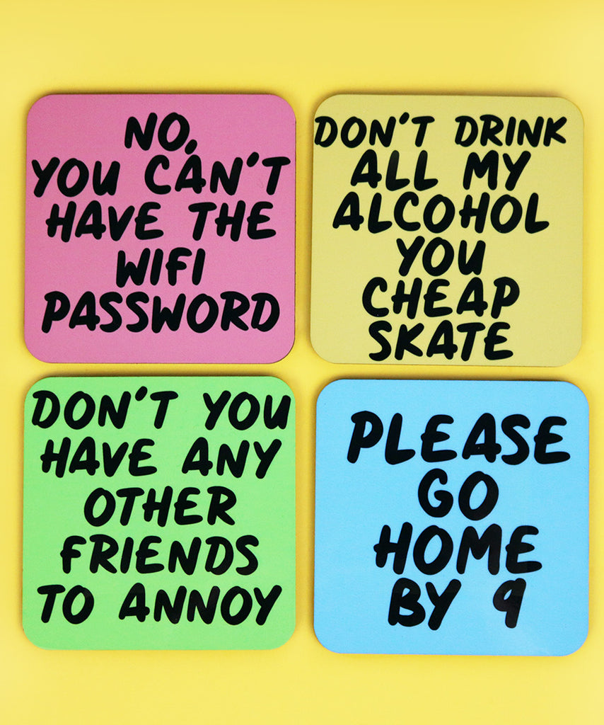 Passive Aggressive Comments For Your Guests (Coaster Set)