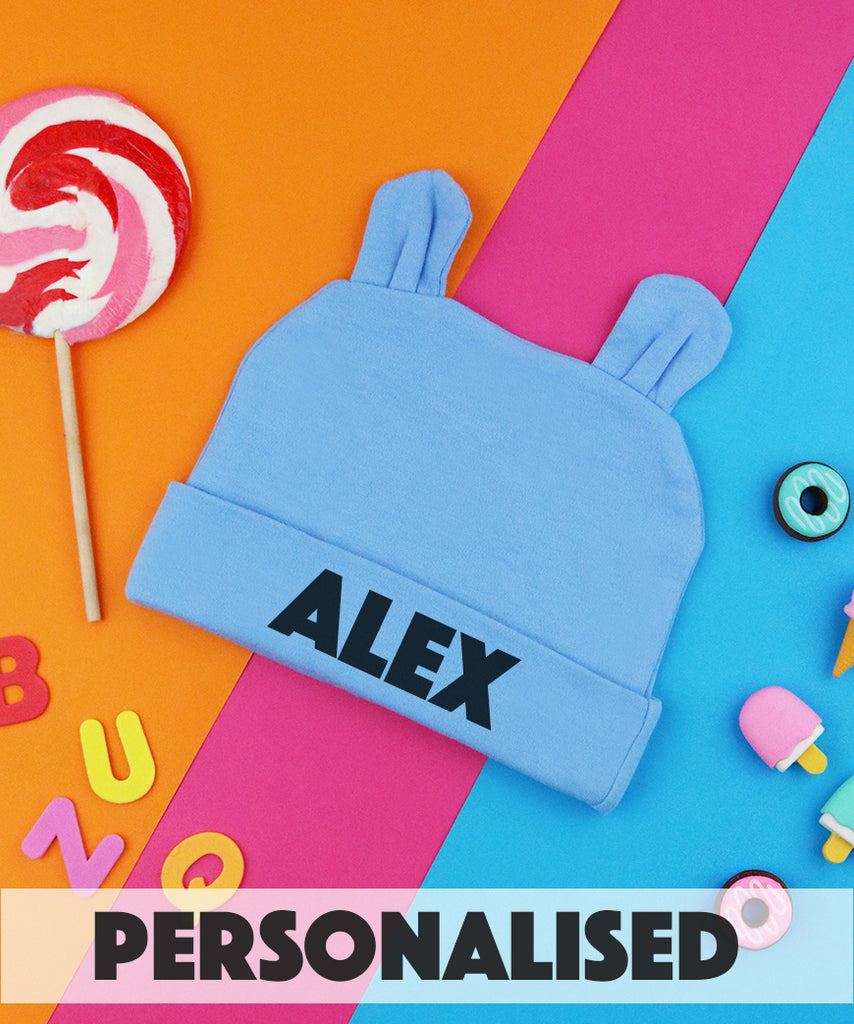 Personalised Name Bunny Ear Beanie