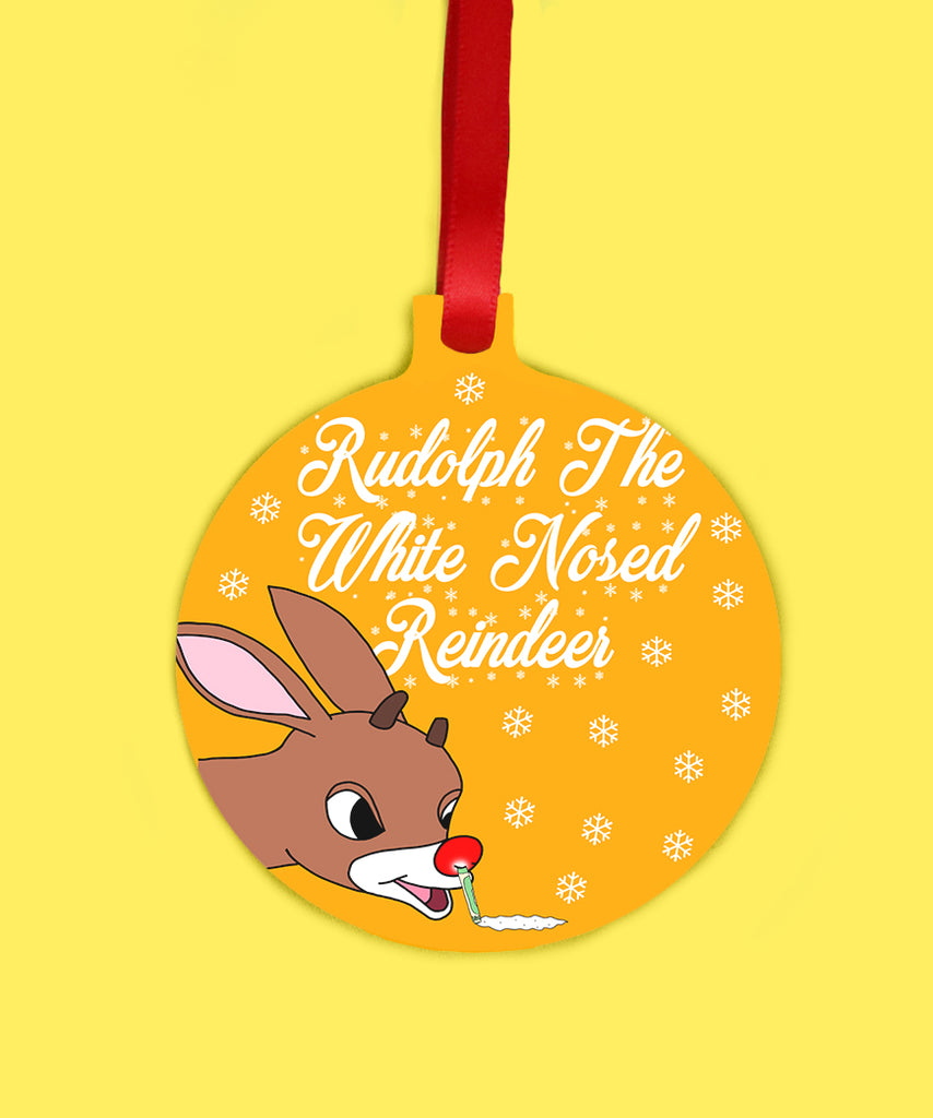 Rudolph The White Nosed Reindeer (Ornament)