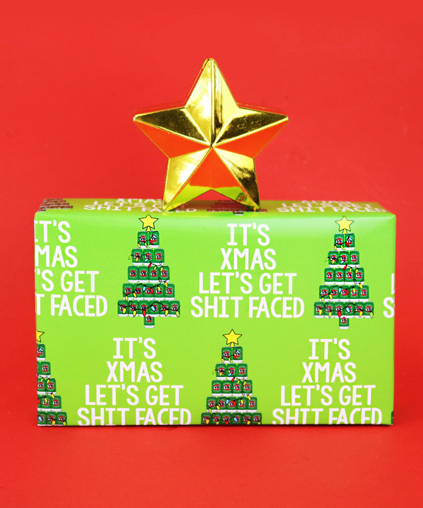 It's Xmas, Time To Get Shit Faced (Wrapping Paper)