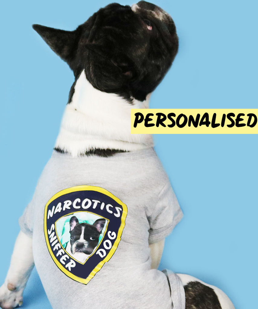 Narcotics Sniffer Dog (Personalised Dog Tee)