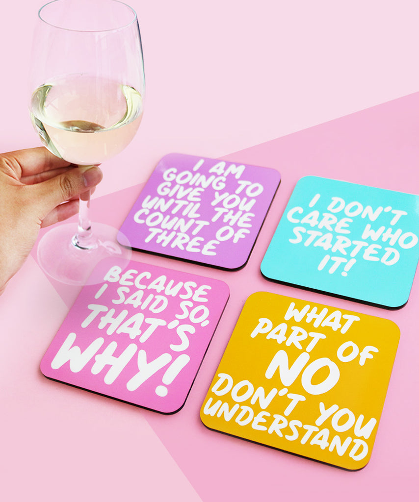Things Mums Say (Coaster Set)