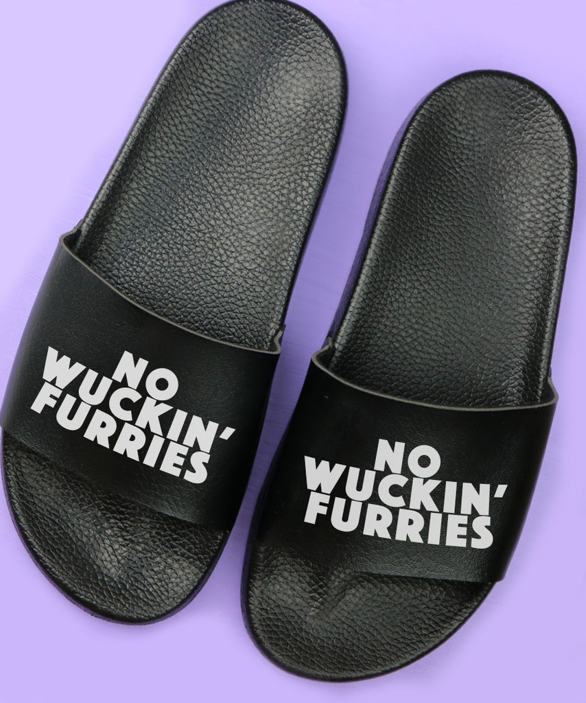 No Wuckin Furries (Womens Slides)