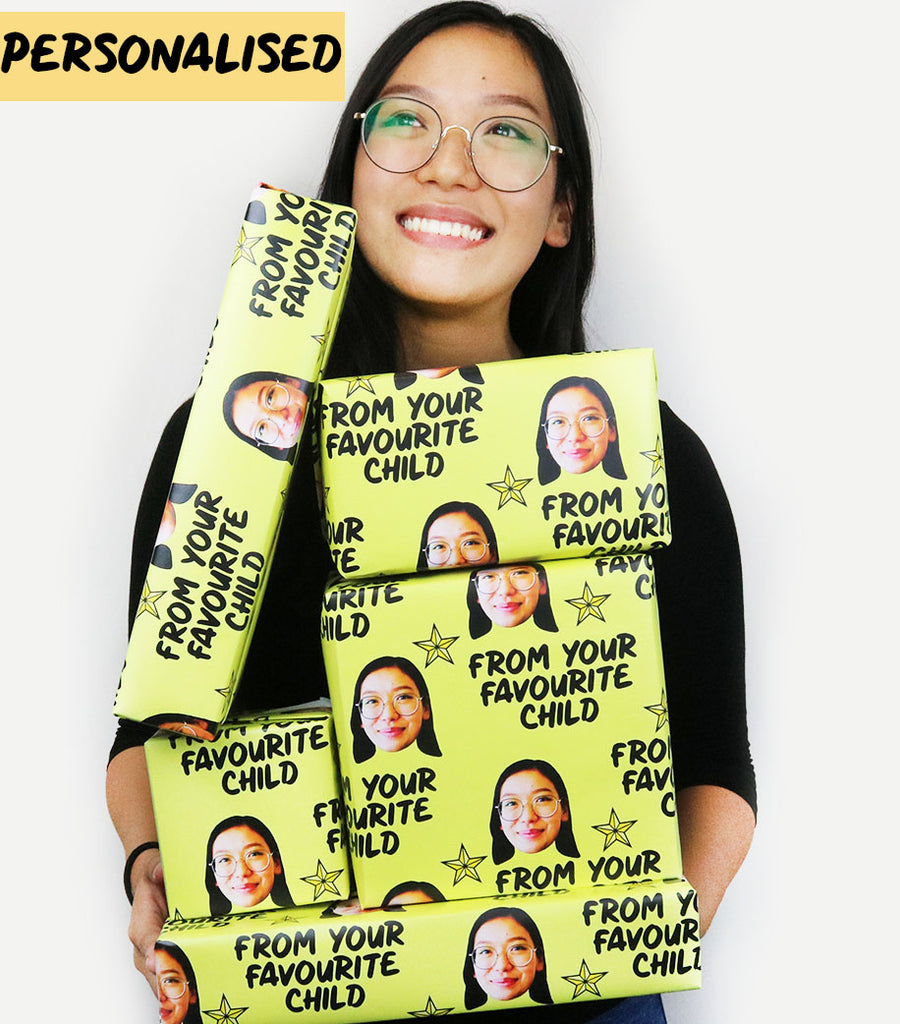 "Personalised Face ""From Your Favourite Child"" Wrapping Paper"