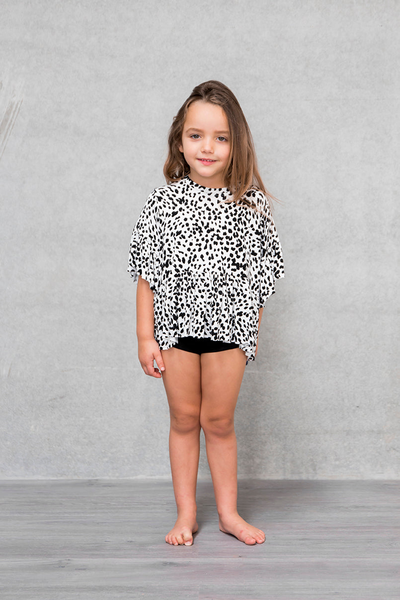 Frill Box Crop Kids - Lynx