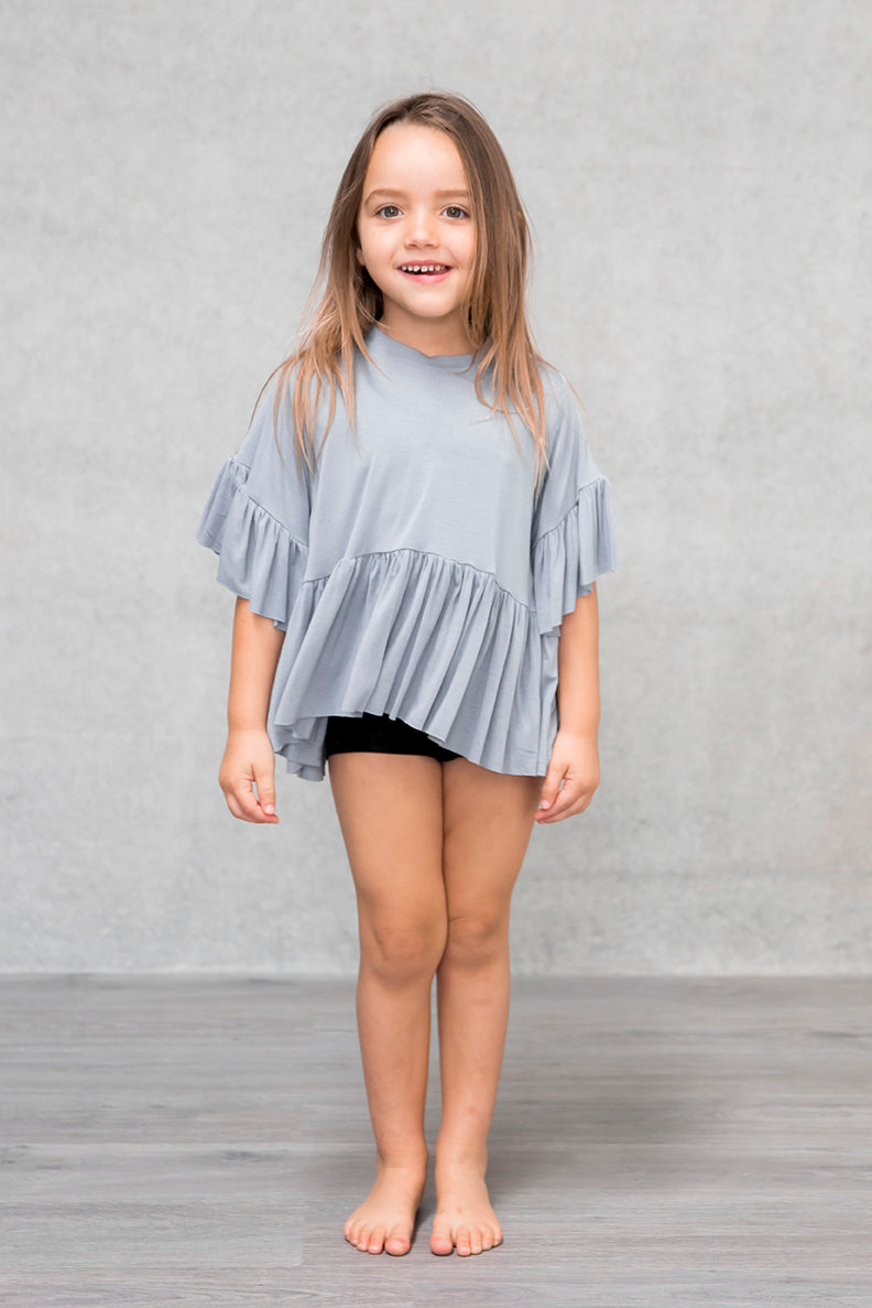 Frill Box Crop Kids - Mist
