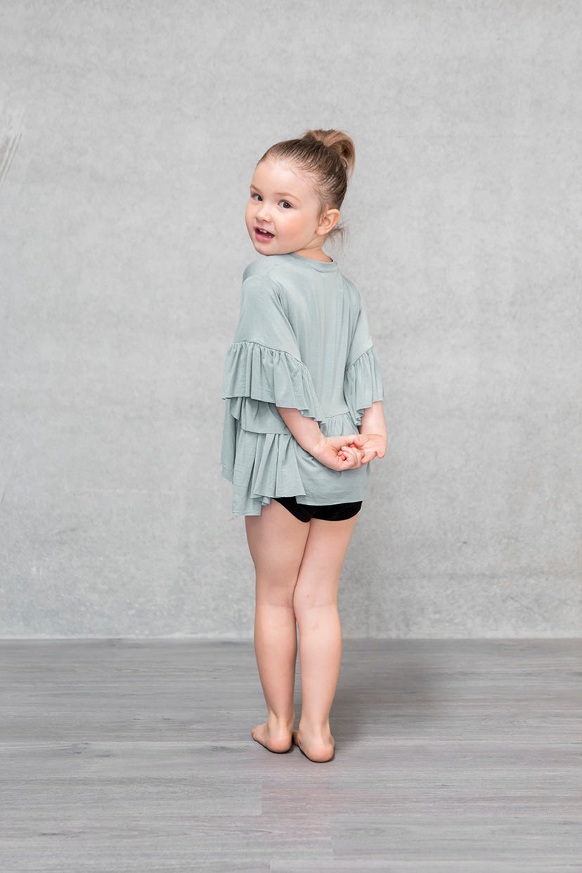 Frill Box Crop Kids - Willow