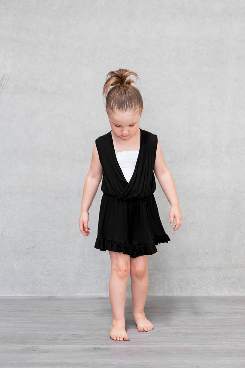 Frill Playsuit Kids - Raven